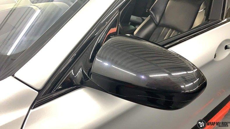 BMW M5 satin white aluminium, Carwrapping door Wrapmyride.nu Foto-nr:13137, ©2021