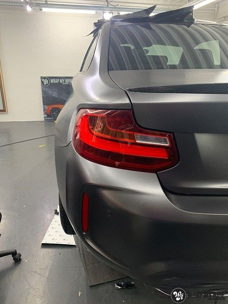BMW M2 Satin dark grey, Carwrapping door Wrapmyride.nu Foto-nr:13073, ©2020