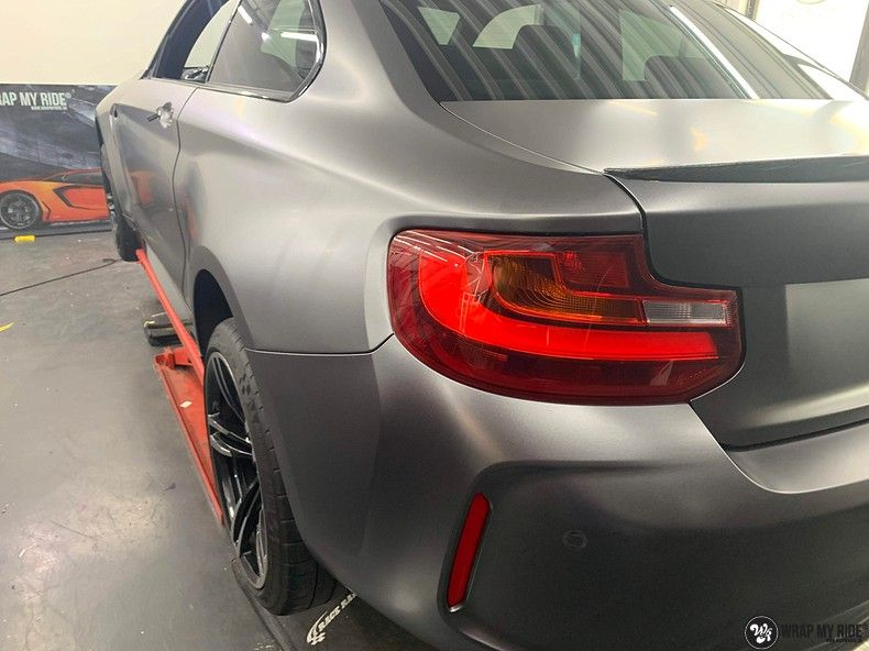 BMW M2 Satin dark grey, Carwrapping door Wrapmyride.nu Foto-nr:13074, ©2021