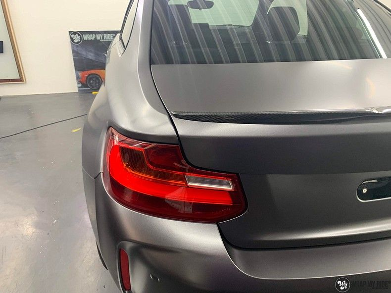 BMW M2 Satin dark grey, Carwrapping door Wrapmyride.nu Foto-nr:13075, ©2020