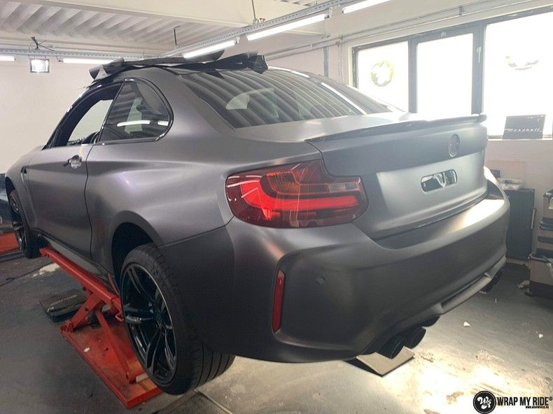 BMW M2 Satin dark grey, Carwrapping door Wrapmyride.nu Foto-nr:13076, ©2020