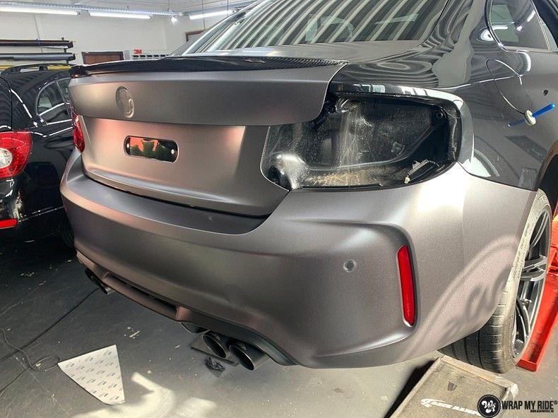 BMW M2 Satin dark grey, Carwrapping door Wrapmyride.nu Foto-nr:13082, ©2020