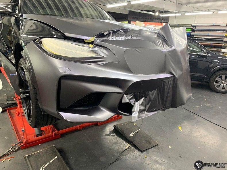 BMW M2 Satin dark grey, Carwrapping door Wrapmyride.nu Foto-nr:13084, ©2020