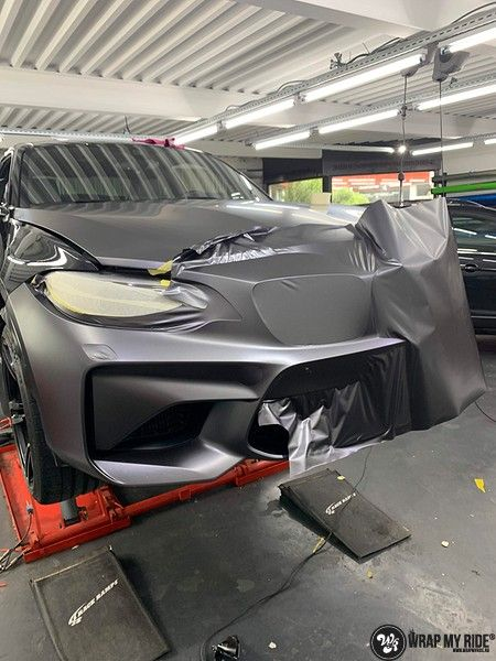 BMW M2 Satin dark grey, Carwrapping door Wrapmyride.nu Foto-nr:13085, ©2021