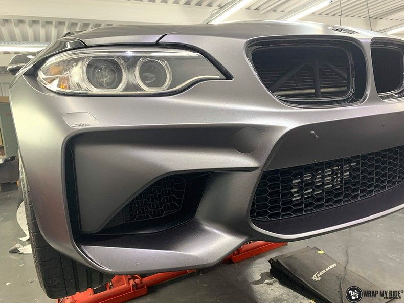 BMW M2 Satin dark grey, Carwrapping door Wrapmyride.nu Foto-nr:13086, ©2021