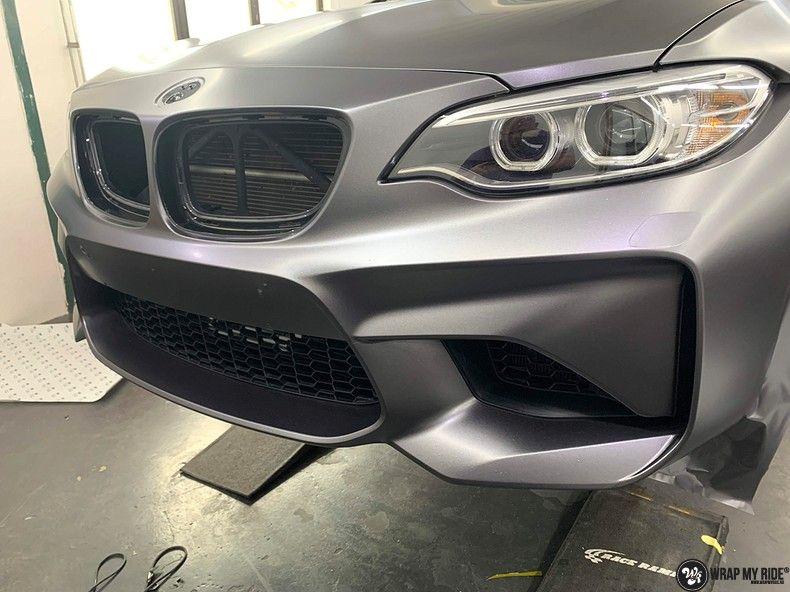 BMW M2 Satin dark grey, Carwrapping door Wrapmyride.nu Foto-nr:13087, ©2021