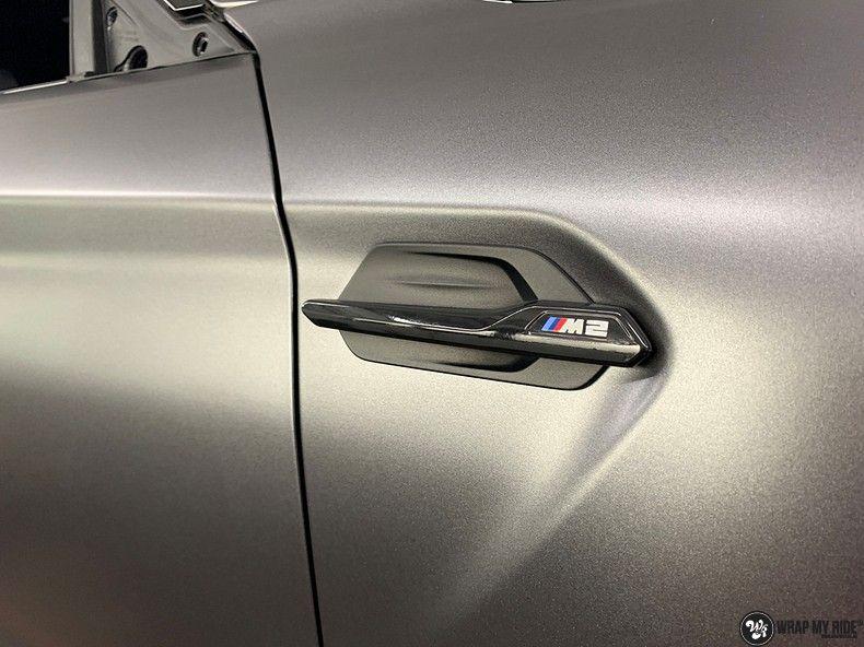 BMW M2 Satin dark grey, Carwrapping door Wrapmyride.nu Foto-nr:13088, ©2020