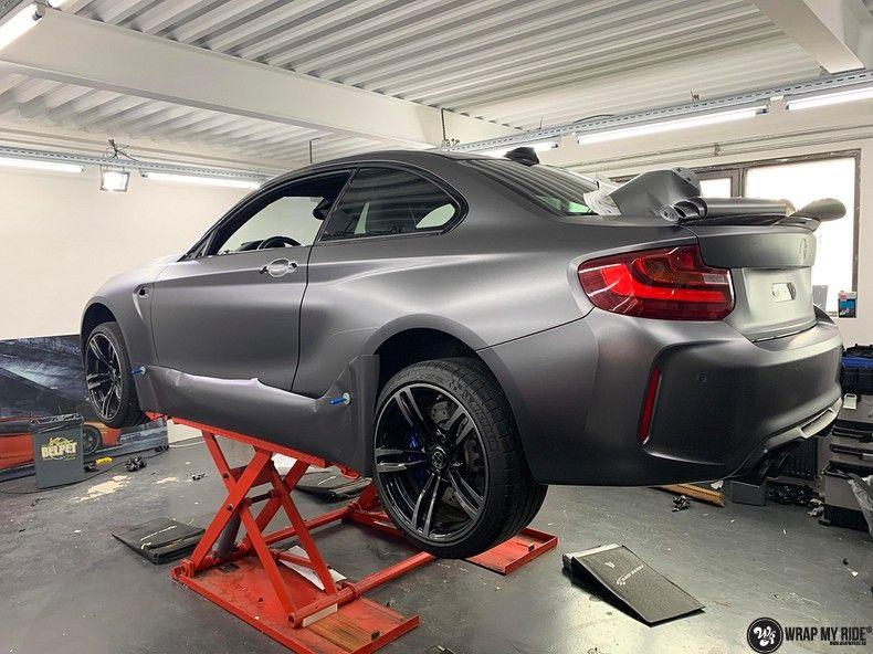 BMW M2 Satin dark grey, Carwrapping door Wrapmyride.nu Foto-nr:13100, ©2021
