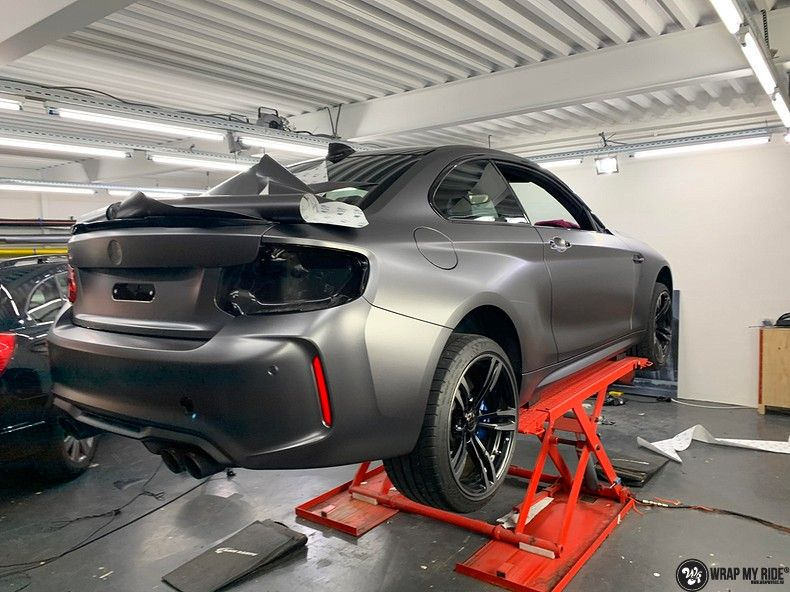 BMW M2 Satin dark grey, Carwrapping door Wrapmyride.nu Foto-nr:13101, ©2020