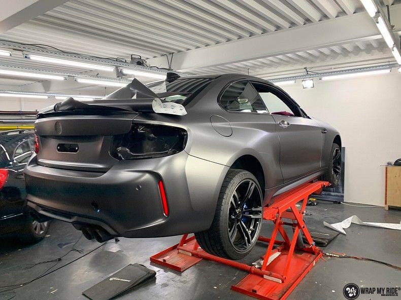 BMW M2 Satin dark grey, Carwrapping door Wrapmyride.nu Foto-nr:13101, ©2021