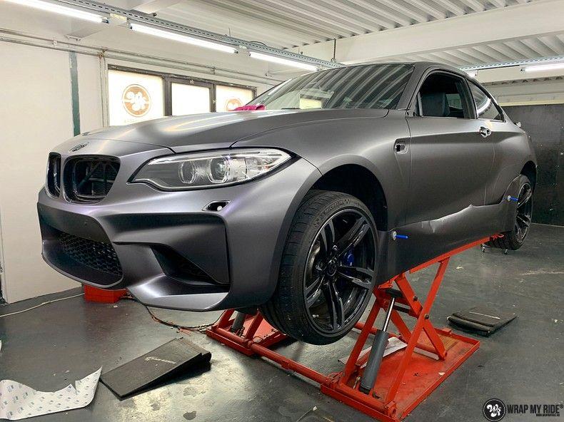 BMW M2 Satin dark grey, Carwrapping door Wrapmyride.nu Foto-nr:13103, ©2021