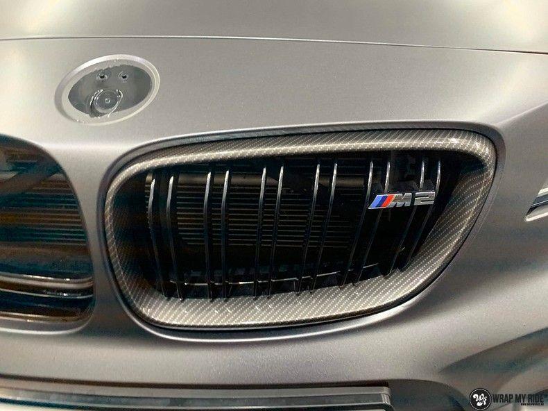 BMW M2 Satin dark grey, Carwrapping door Wrapmyride.nu Foto-nr:13106, ©2021
