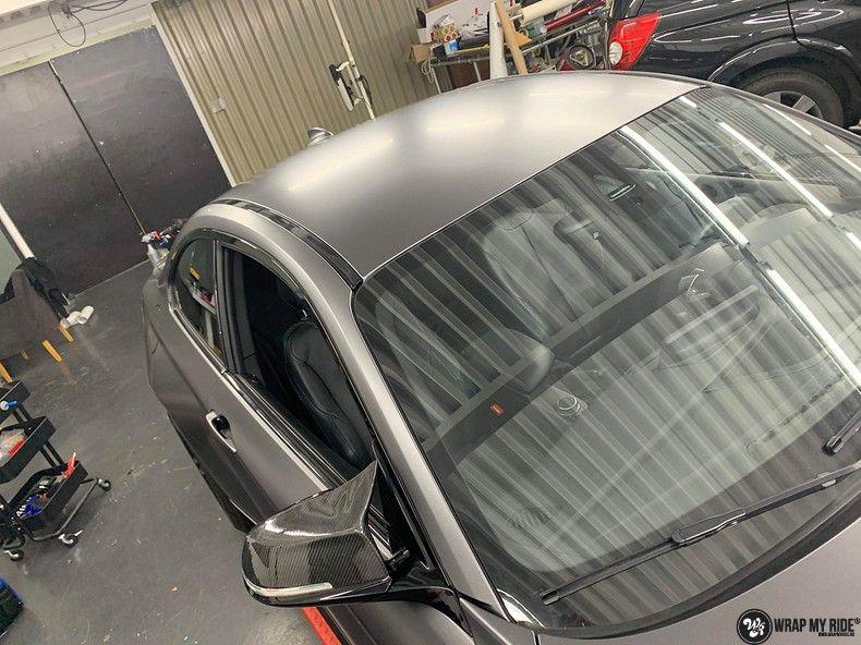 BMW M2 Satin dark grey, Carwrapping door Wrapmyride.nu Foto-nr:13115, ©2021
