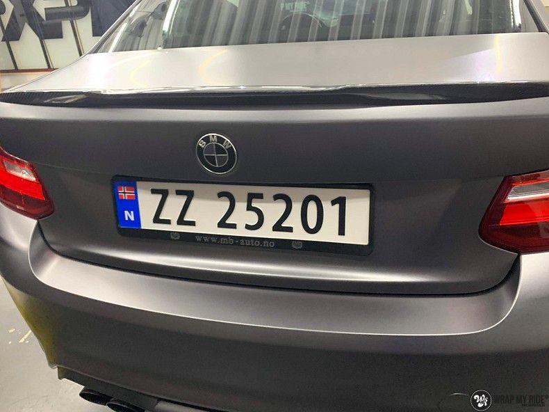 BMW M2 Satin dark grey, Carwrapping door Wrapmyride.nu Foto-nr:13116, ©2021