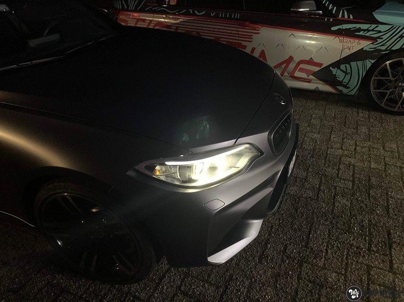 BMW M2 Satin dark grey, Carwrapping door Wrapmyride.nu Foto-nr:13119, ©2021