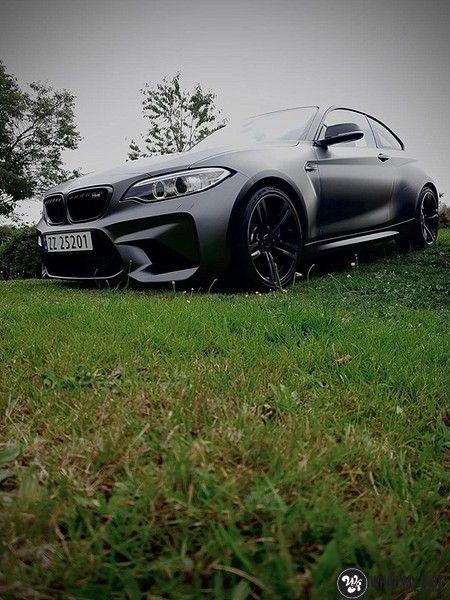 BMW M2 Satin dark grey, Carwrapping door Wrapmyride.nu Foto-nr:13120, ©2021