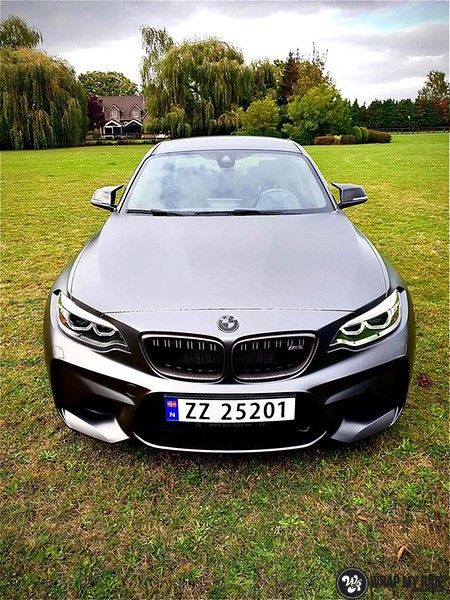 BMW M2 Satin dark grey, Carwrapping door Wrapmyride.nu Foto-nr:13121, ©2021