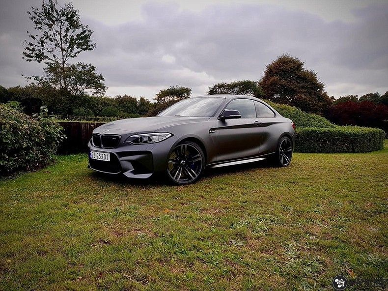 BMW M2 Satin dark grey, Carwrapping door Wrapmyride.nu Foto-nr:13122, ©2021