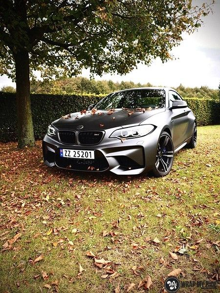 BMW M2 Satin dark grey, Carwrapping door Wrapmyride.nu Foto-nr:13123, ©2021
