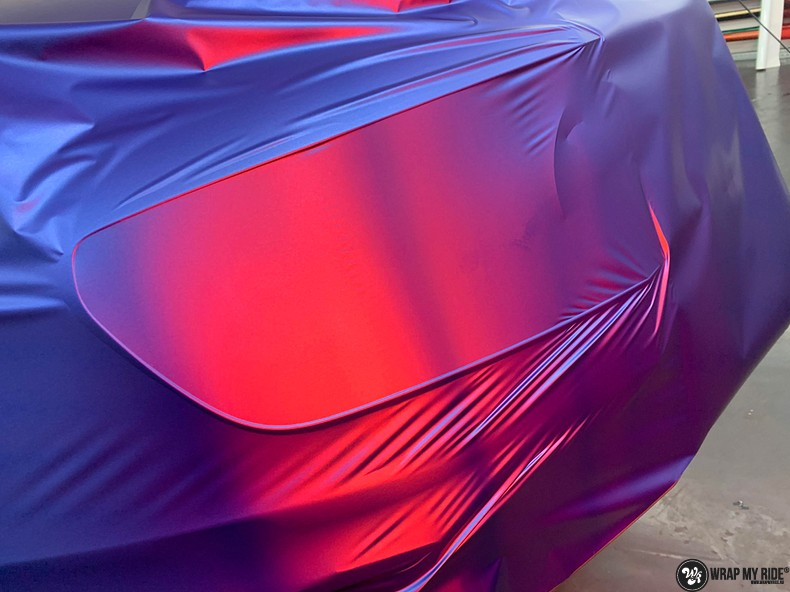 Mercedes A-klasse matte slate bleu, Carwrapping door Wrapmyride.nu Foto-nr:13321, ©2020