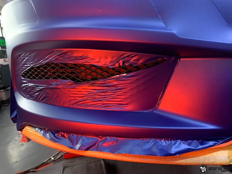 Mercedes A-klasse matte slate bleu, Carwrapping door Wrapmyride.nu Foto-nr:13320, ©2020
