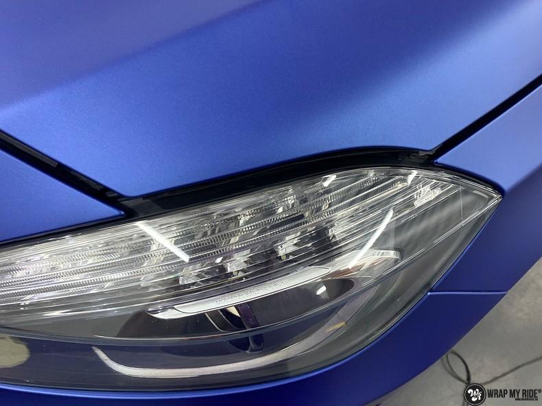 Mercedes A-klasse matte slate bleu, Carwrapping door Wrapmyride.nu Foto-nr:13318, ©2020