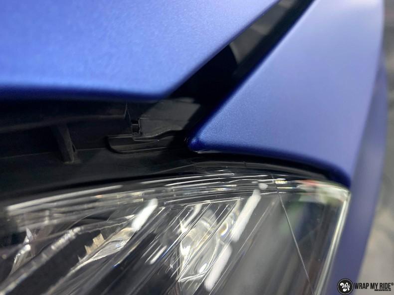 Mercedes A-klasse matte slate bleu, Carwrapping door Wrapmyride.nu Foto-nr:13316, ©2020