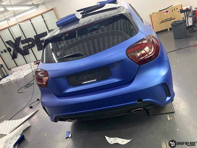 Mercedes A-klasse matte slate bleu, Carwrapping door Wrapmyride.nu Foto-nr:13310, ©2020