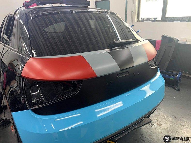audi A1 custom livery, Carwrapping door Wrapmyride.nu Foto-nr:13003, ©2020