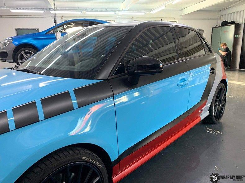 audi A1 custom livery, Carwrapping door Wrapmyride.nu Foto-nr:13033, ©2020