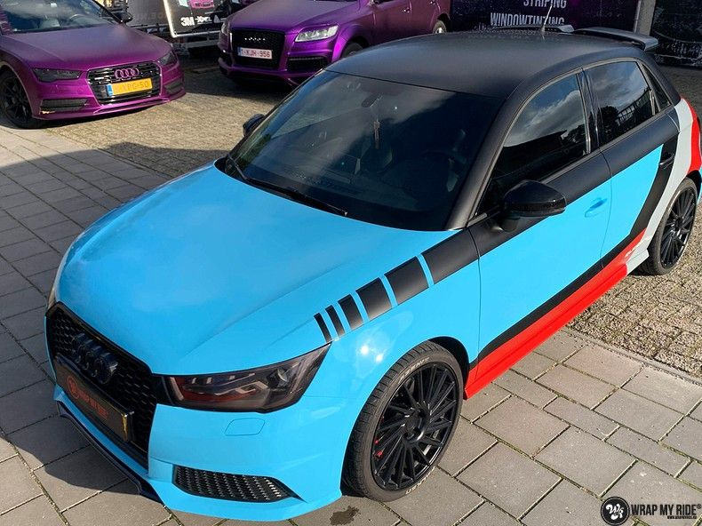 audi A1 custom livery, Carwrapping door Wrapmyride.nu Foto-nr:13061, ©2020