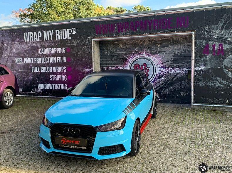 audi A1 custom livery, Carwrapping door Wrapmyride.nu Foto-nr:13063, ©2020
