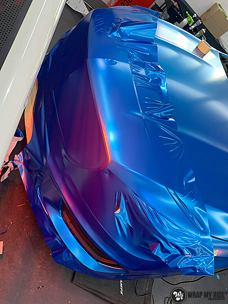 Mercedes CLA Matte Bleu Chrome, Carwrapping door Wrapmyride.nu Foto-nr:13801, ©2021