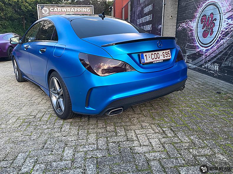 Mercedes CLA Matte Bleu Chrome, Carwrapping door Wrapmyride.nu Foto-nr:13810, ©2021