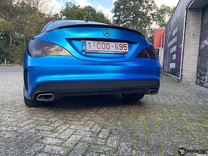 Mercedes CLA Matte Bleu Chrome, Carwrapping door Wrapmyride.nu Foto-nr:13811, ©2021