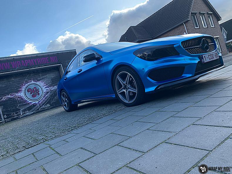Mercedes CLA Matte Bleu Chrome, Carwrapping door Wrapmyride.nu Foto-nr:13823, ©2021