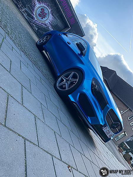 Mercedes CLA Matte Bleu Chrome, Carwrapping door Wrapmyride.nu Foto-nr:13825, ©2021