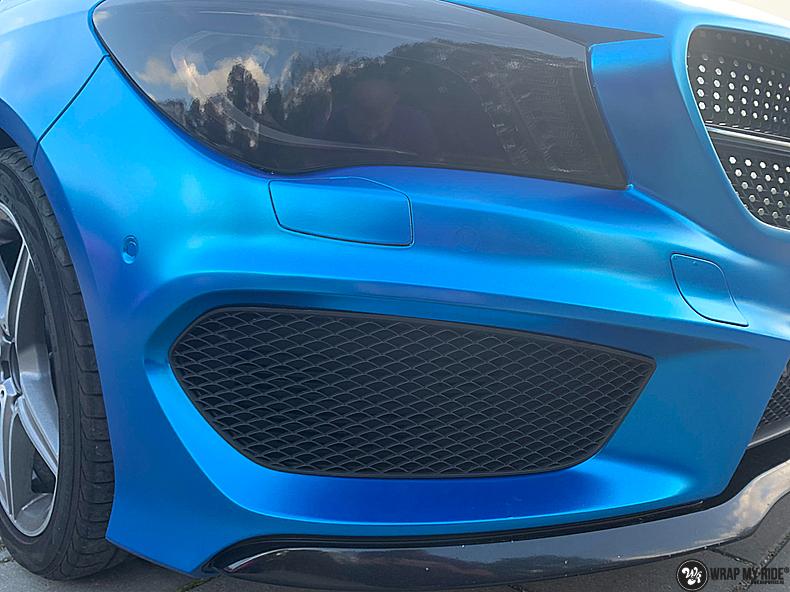 Mercedes CLA Matte Bleu Chrome, Carwrapping door Wrapmyride.nu Foto-nr:13828, ©2021