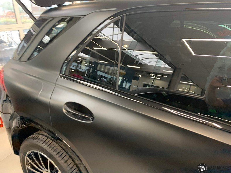 Mercedes GLE AMG Satin Black, Carwrapping door Wrapmyride.nu Foto-nr:13909, ©2021