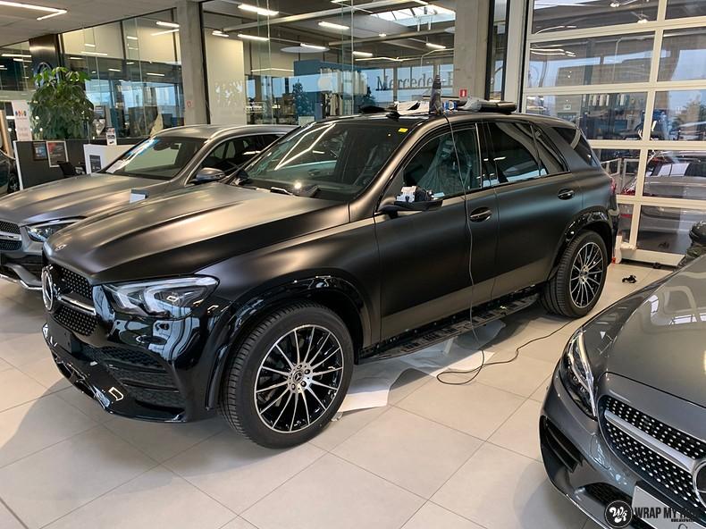Mercedes GLE AMG Satin Black, Carwrapping door Wrapmyride.nu Foto-nr:13915, ©2021