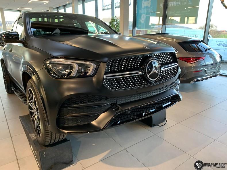 Mercedes GLE AMG Satin Black, Carwrapping door Wrapmyride.nu Foto-nr:13927, ©2021