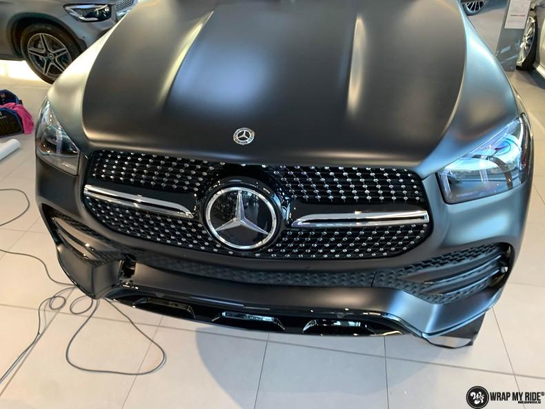 Mercedes GLE AMG Satin Black, Carwrapping door Wrapmyride.nu Foto-nr:13929, ©2021