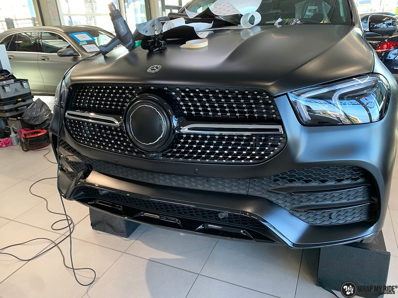 Mercedes GLE AMG Satin Black, Carwrapping door Wrapmyride.nu Foto-nr:13930, ©2021
