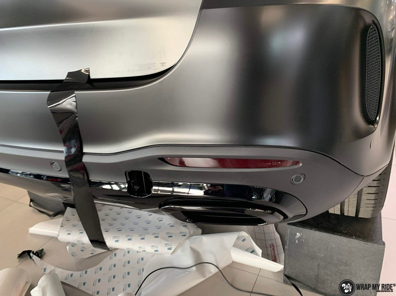 Mercedes GLE AMG Satin Black, Carwrapping door Wrapmyride.nu Foto-nr:13943, ©2021
