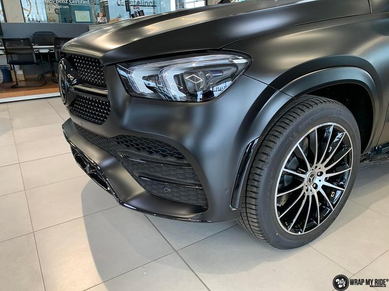 Mercedes GLE AMG Satin Black, Carwrapping door Wrapmyride.nu Foto-nr:13946, ©2021