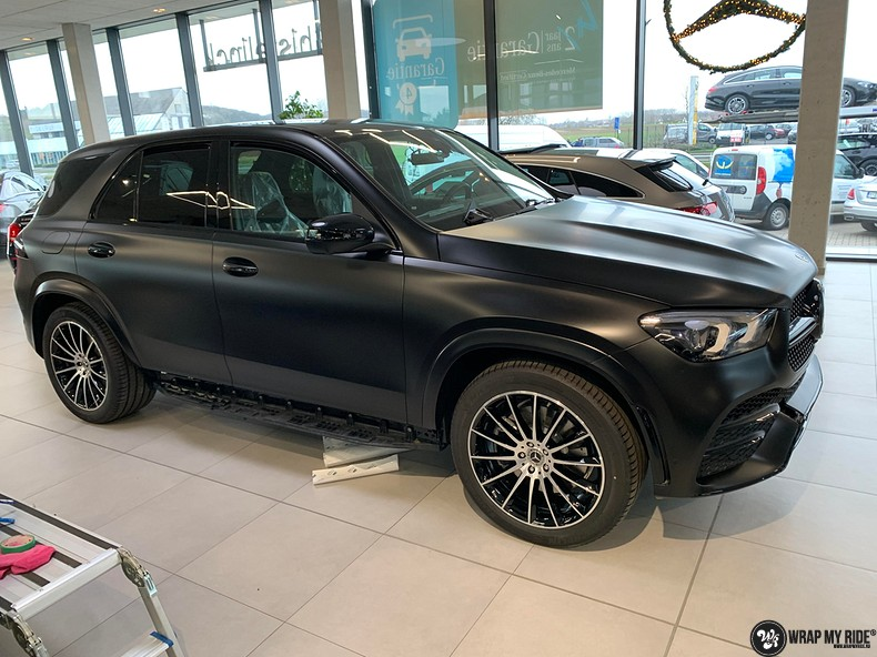 Mercedes GLE AMG Satin Black, Carwrapping door Wrapmyride.nu Foto-nr:13951, ©2021