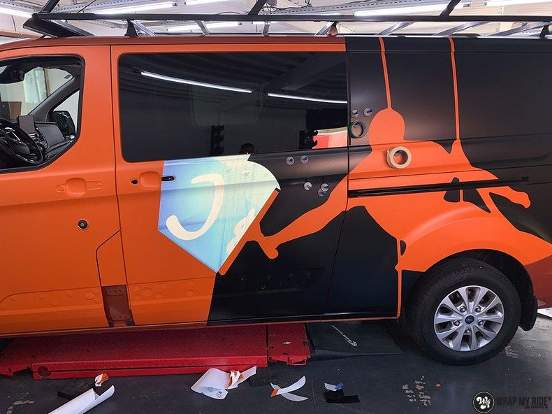 Ford Transit, Carwrapping door Wrapmyride.nu Foto-nr:13172, ©2021