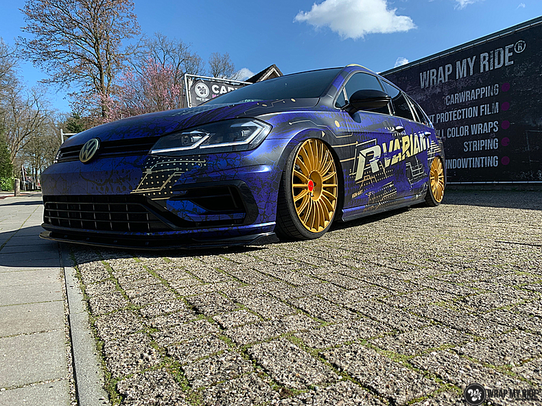 VW golf 7,5 R Variant, Carwrapping door Wrapmyride.nu Foto-nr:13986, ©2021