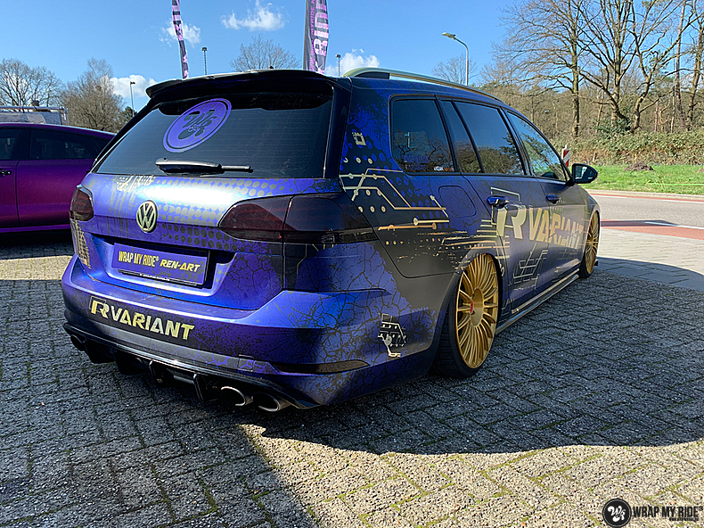 VW golf 7,5 R Variant, Carwrapping door Wrapmyride.nu Foto-nr:13982, ©2021