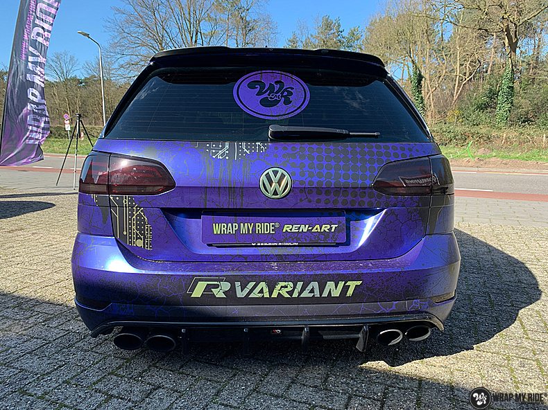 VW golf 7,5 R Variant, Carwrapping door Wrapmyride.nu Foto-nr:13980, ©2021